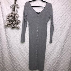 Misguided button up sweater dress